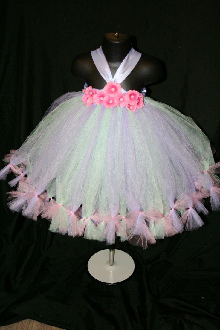 Menta vestido del tutú rosa y lila vestido por LittleMissTrendyTutu