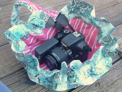 Drawstring Camera Bag Tutorial