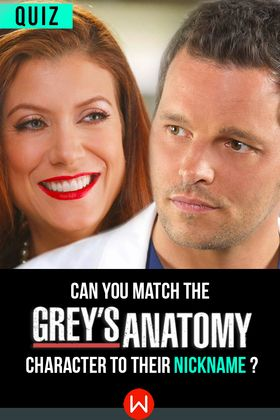 How well versed in the mcnicknames are you? Greys Anatomy Trivia, Greys anatomy nicknames .Shondaland, Shonda Rhimes.