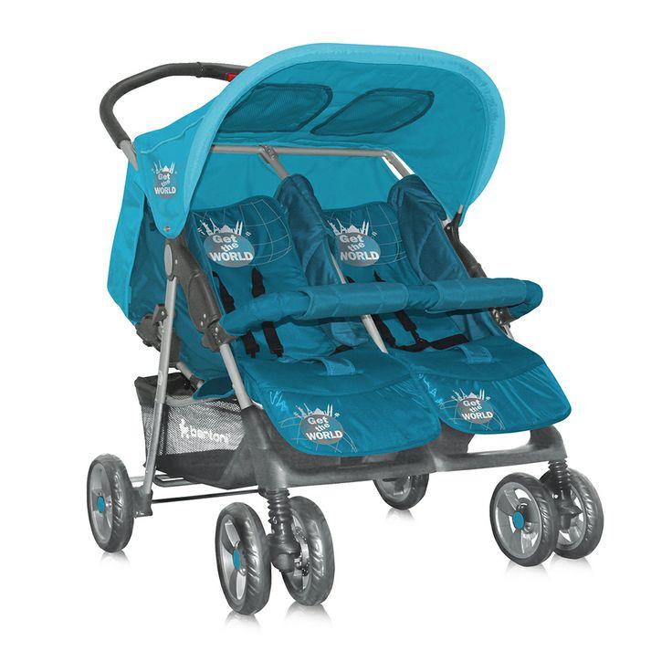 Carucior Bertoni Twin cu doua scaune independente ce ofera libertate de miscare bebelusilor si le sporeste confortul. Caruciorul Bertoni este alegerea potrivita atat pentru vara, cat si pentru iarna, dispunand de o acoperitoare cu rol de protectie.