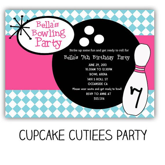 7 best Princess Bowling Party images on Pinterest Bowling party - bowling invitation