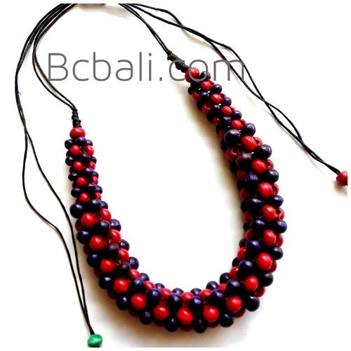 bali chokers wooden seeds beads necklaces - bali chokers wooden seeds beads necklaces design handmade