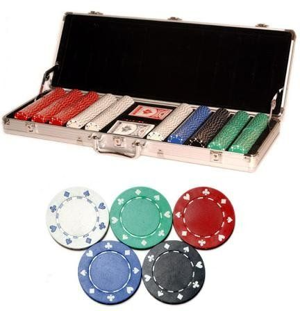 500pc 11.5g Suited Style Poker Chip Set w/ Case and Accesories by Poker. $27.99. Great Chip Set to get your home games going. Accomodates 6-12 players and will impress all of your friends! #poker #facebook