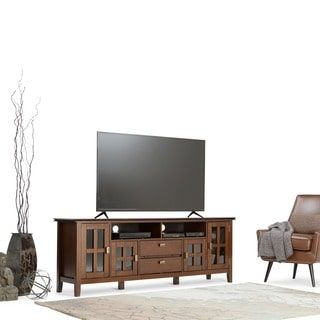 WYNDENHALL Stratford 72-inch Wide TV Media Stand for TV's up
