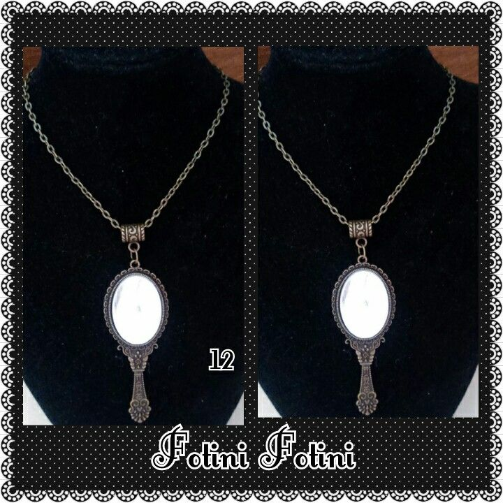 Chain with pendant mirror