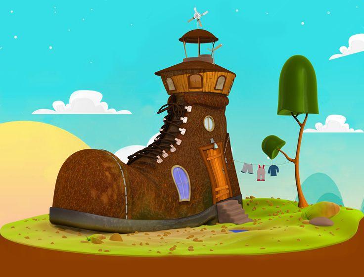 cartoon boot