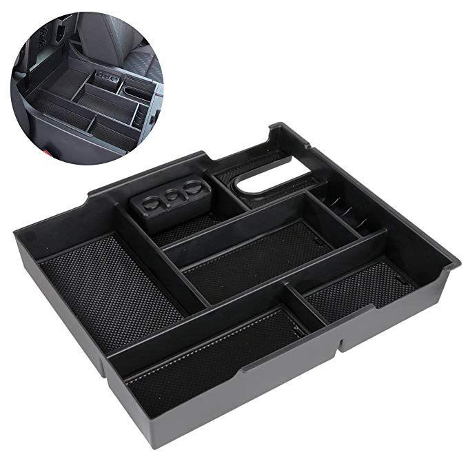 ITrims for Toyota Tacoma 2016 2017 2018 Car Center Console Armrest Box Glove Box Secondary Storage Console Organizer Insert Tray