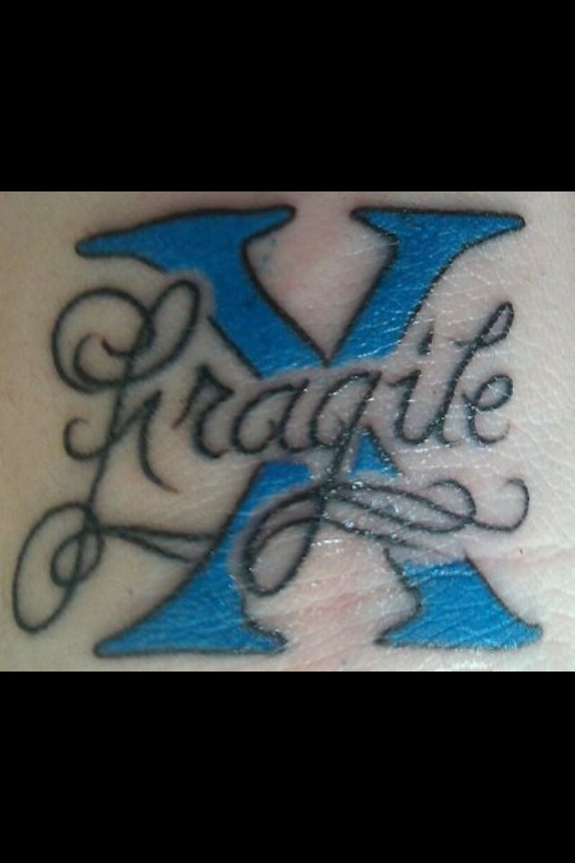 fragile x syndrome my tattoo supporting me and my kids genetic disorder tattoos pinterest. Black Bedroom Furniture Sets. Home Design Ideas