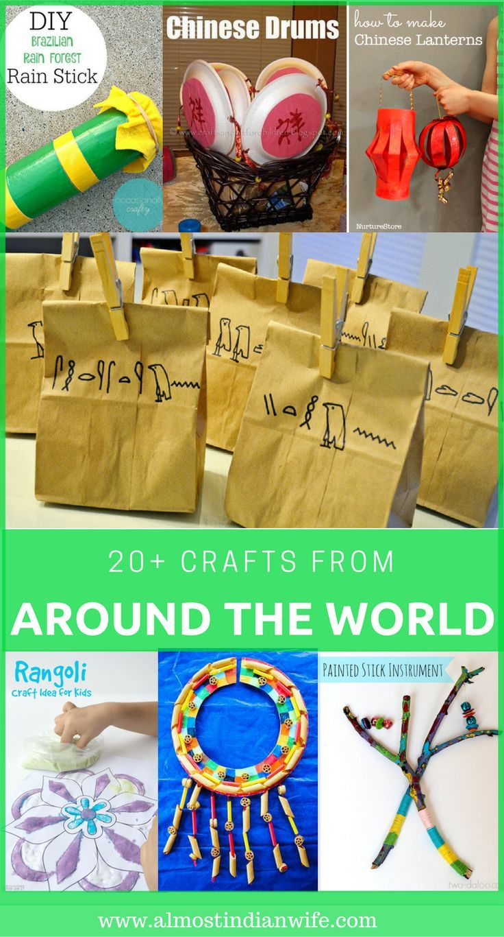 Crafts Around The World Around The World Crafts For Kids