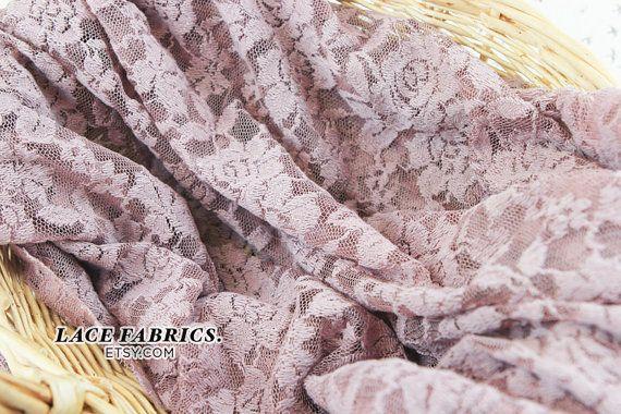 Scalloped Lace Fabric by yard MAUVE Scalloped Lace by LaceFabrics, $11.00