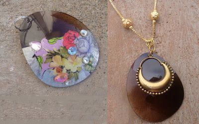 Make a pendant from sunglass shades.