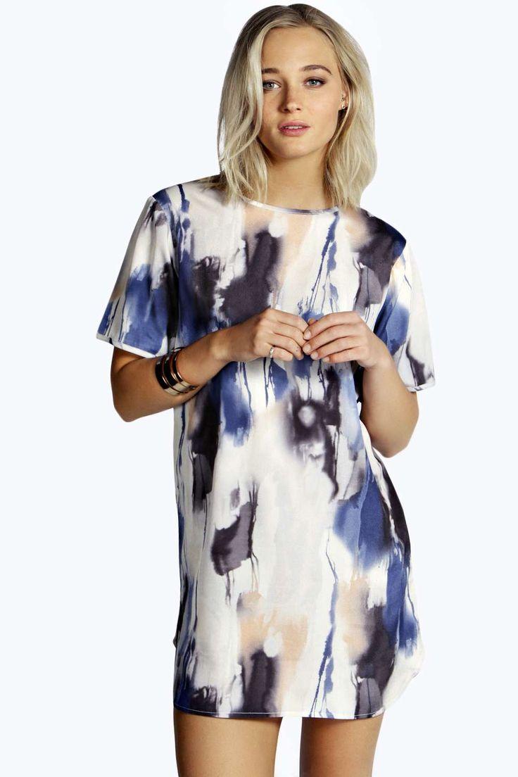 Mollie Printed Woven Shift Dress | BooHoo