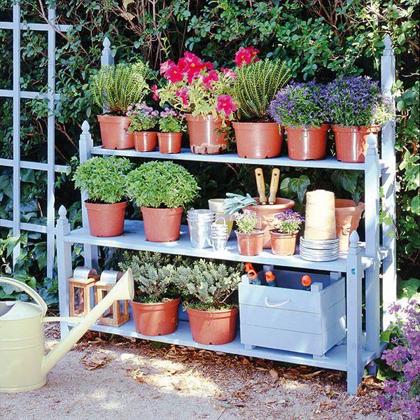 estantería jardín