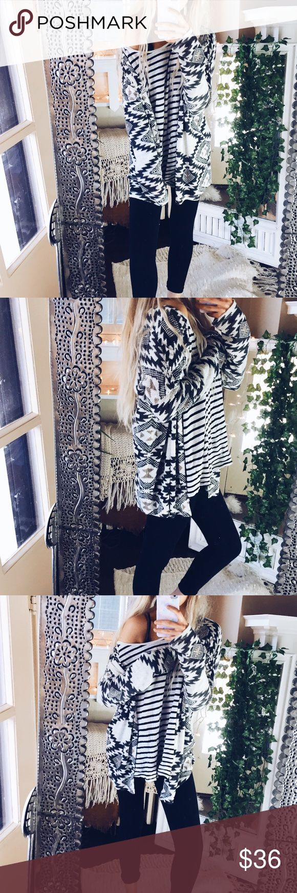 Bohemian Tribal Cardigan Sweater Cozy and soft! Sweaters Cardigans
