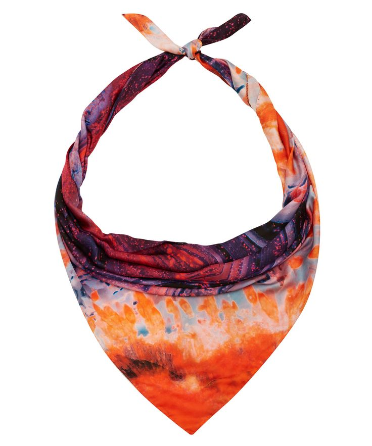 Purple Agate silk scarf from the Weston collection.