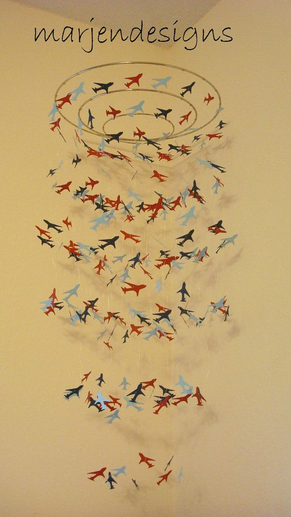 Hey, I found this really awesome Etsy listing at http://www.etsy.com/listing/163260627/airplane-mobile-baby-boy-mobile-nursery