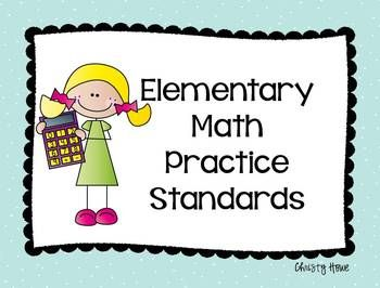 "Elementary Math Practice Standards - Common Core By Christy Howe...The Elementary Math Practice Standards are at the heart of the Common Core State Standards for math. These posters describe each practice standard...""I can statements, posters-use as learning targets, anchor charts.....Subjects:Math, Problem Solving, Tools for Common Core Kindergarten, 1st, 2nd, 3rd, 4th, 5th, Homeschool Printables, Math Centers, Posters"