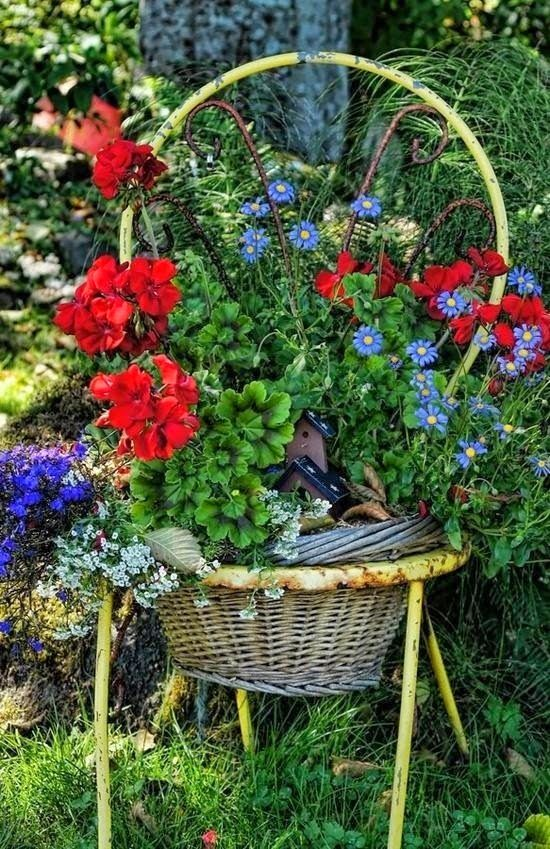 Great use for old baskets | Backyards Click