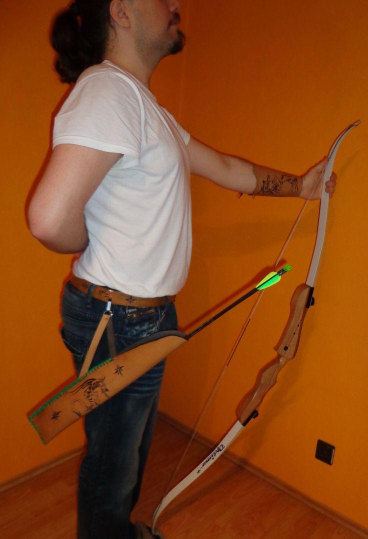 íjász szett – carved leather  archer set