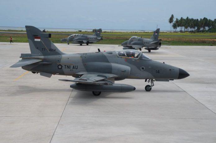 2 Pesawat Hawk Mk-209 TNI AU Selesai Berawatan Berat
