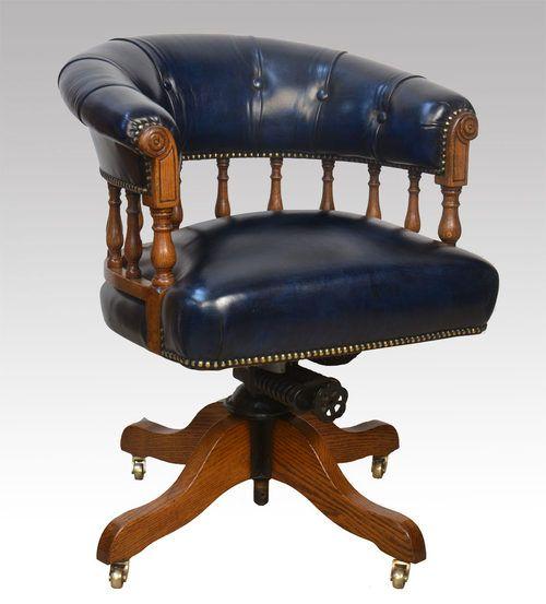 Antique oak captains chair