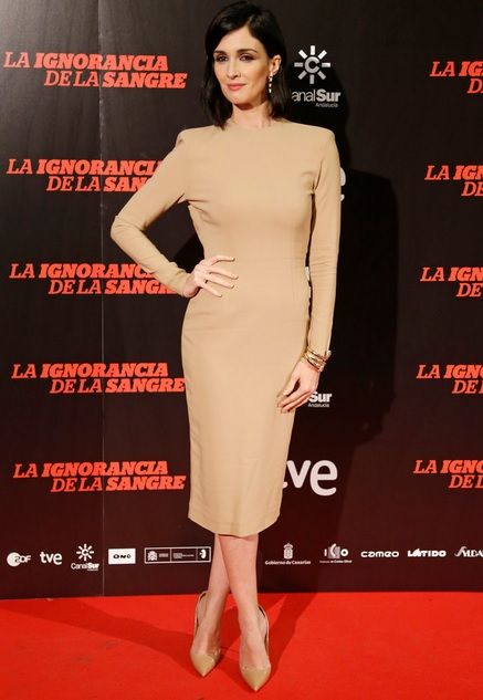 Paz Vega con vestido de Colour Nude