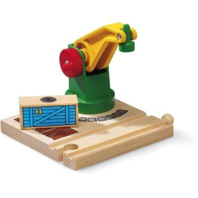 Brio Kleiner Magnetkran 33245. Der Kran schwenkt 360 °. Die stabile Kurbel und der eingebaute Magnet sorgen für unzählige Lade- und Löschvorgänge während des Spiels. Eine Ladung Holz ist inbegriffen, damit man sofort loslegen kann. http://www.briobahn.ch/brio-eisenbahn-kleiner-magnetkran-33245.html