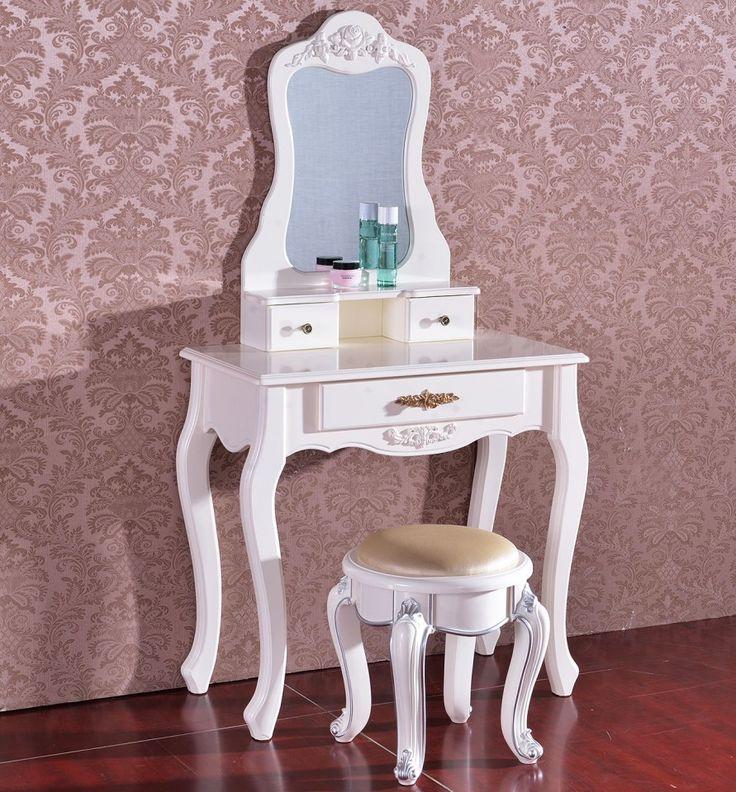 SEA215 Set masa cosmetica - http://www.emobili.ro/cumpara/sea215-set-masa-alba-toaleta-cosmetica-machiaj-oglinda-masuta-vanity-445 #eMobili
