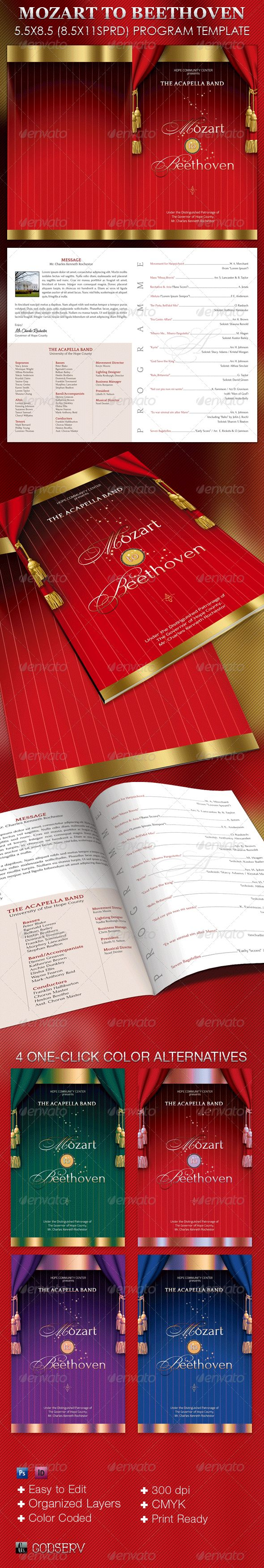 best images about christmas programs for church mozart beethoven program template