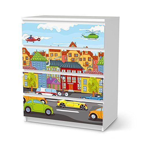 Klebefolie IKEA Malm 4 Schubladen Möbel Sticker Design Ci... Https:/