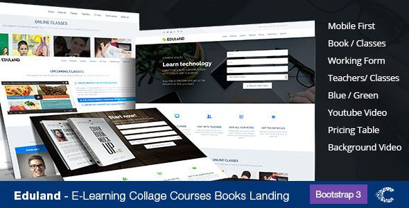 Eduland - Collage Career HTML Landing Page