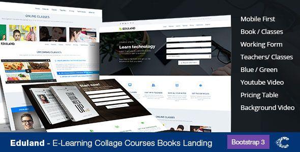 Eduland - Collage Career HTML Landing Page