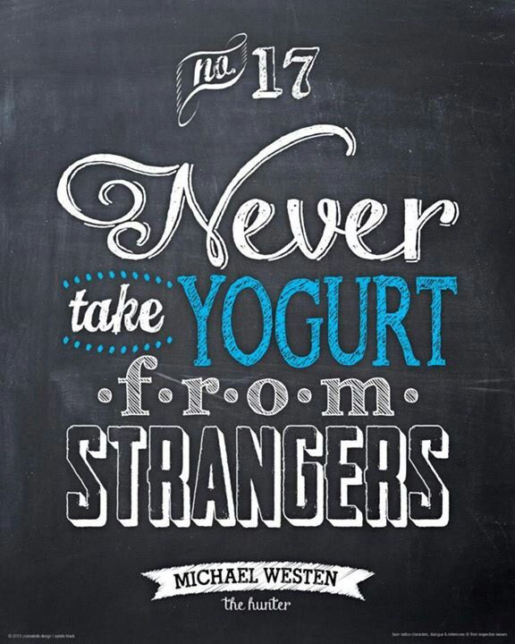 And don't touch the blueberry yogurt!