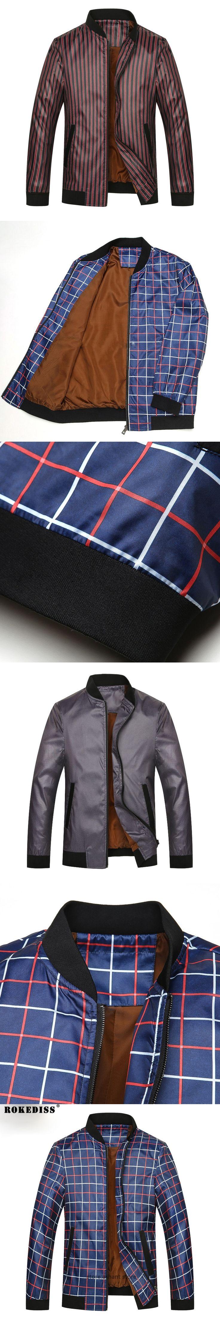 2016 Men's Lightweight Jacket Fashion Casual Plus King Size Mandarin Collar Purple Red Regular Overcoats TC514