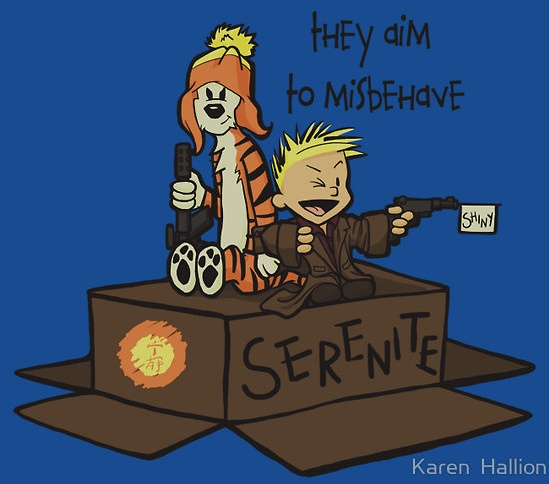 Calvin and Hobbes meets #Firefly. @NathanFillion