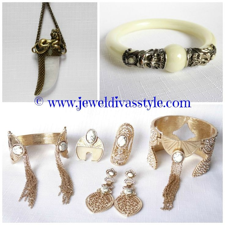 JDS - samantha wills top, assortment bottom, all from ebay - http://jeweldivasstyle.com/new-white-jewels/