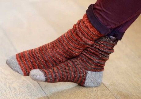 Free Knitting Patterns For Socks With Toes : Jujus toe up afterthought heel socks. Free pattern via ...