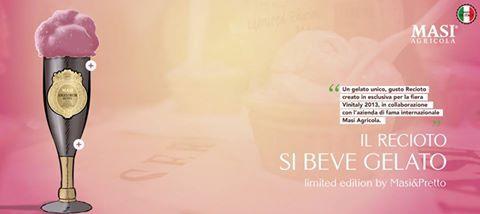 #IlGelatoCheSiBeve Un gelato unico, gusto Recioto creato in esclusiva per la fiera VINITALY in collaborazione con l'azienda di fama internazionale Masi Agricola. #Drink #IceCream #LimitedEdition