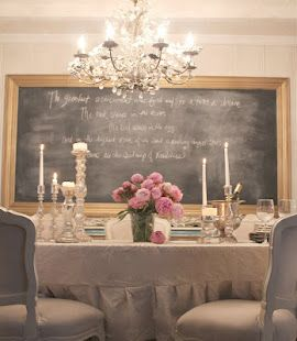 chalkboard...have done this in many projects...clients always fight me on it but LOVE it in the end!!!!