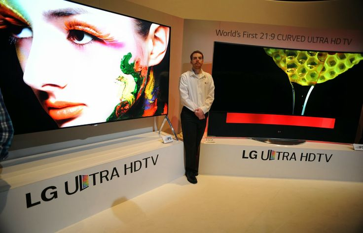 LG UHD curved-screen TV: International CES