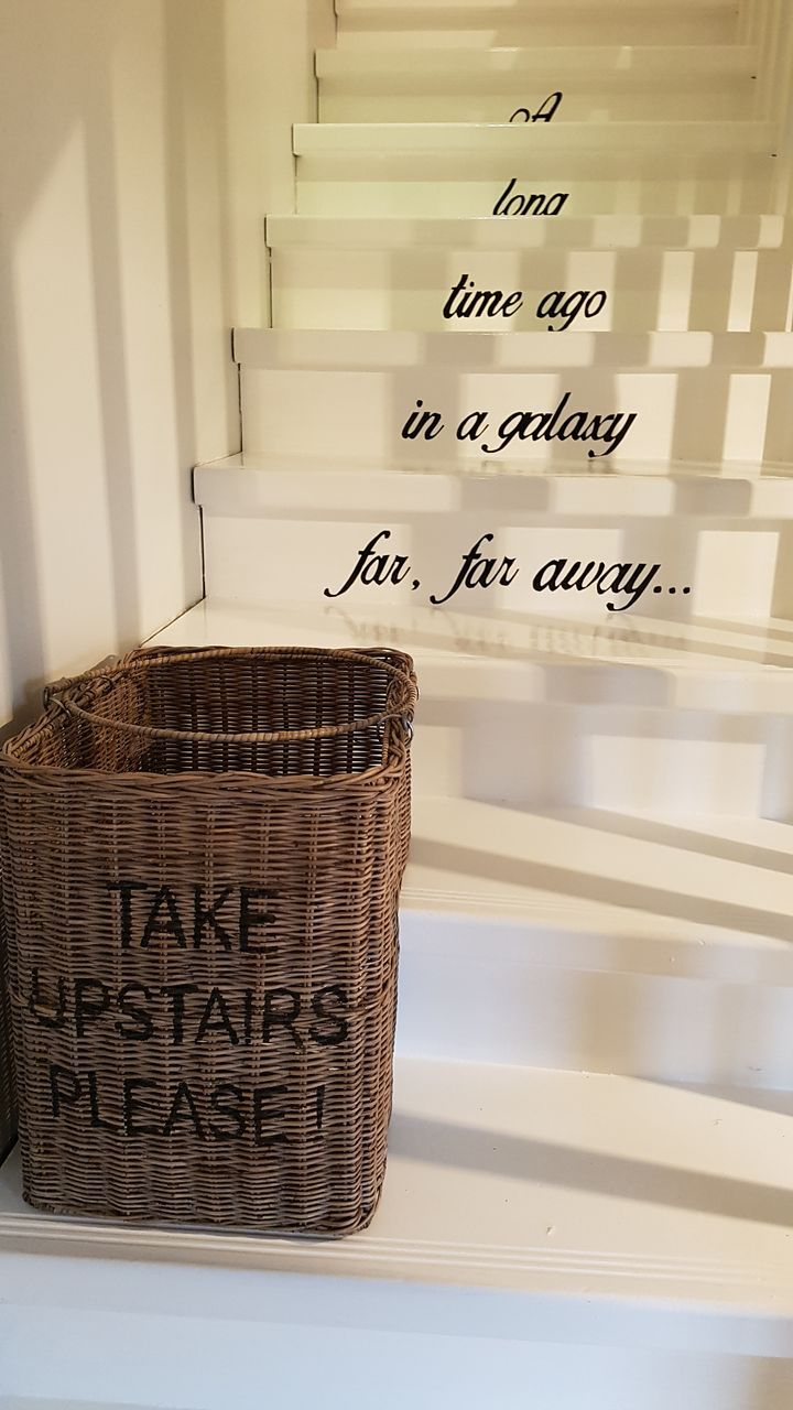 A long time ago in a galaxy far, far away... My stairs and a rattan basket