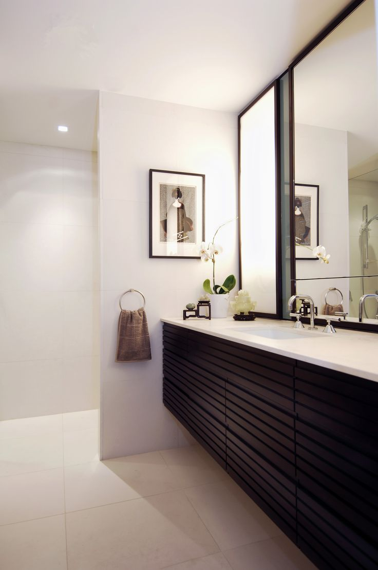 Japanese inspired bathroom. Brooke Aitken Design.