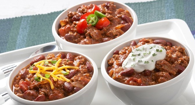 Touchdown Chili recipe-- With the help of McCormick® Chili Seasoning, this chili is so quick and easy to prepare that you wont miss any of the big game.
