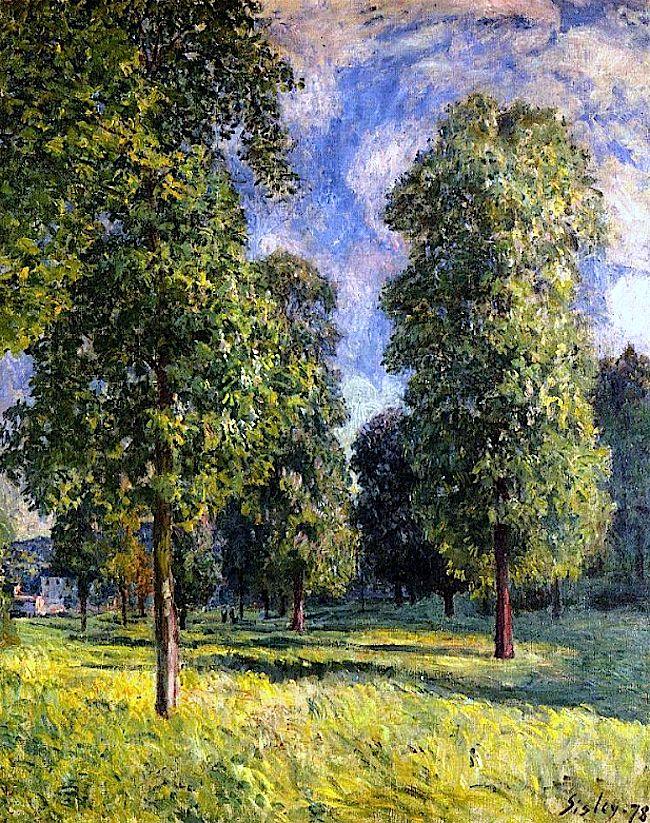 Landscape at Sevres / Alfred Sisley - 1878