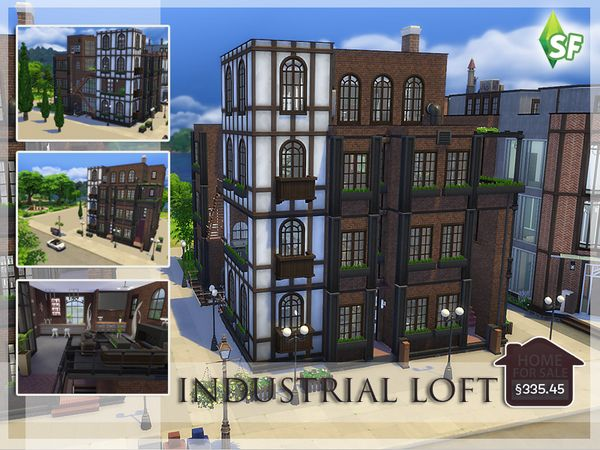 Industrial Loft by SimFabulous at TSR via Sims 4 Updates