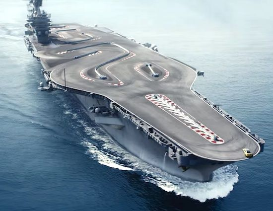 ONE OF THE GREATEST RACE TRACK EVER YET! THE DRIFT OF BMW M4 RIDES ON A AIRCRAFT CARRIER IS ONE COOL WAY EVER!