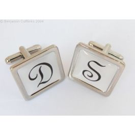Custom Cufflinks - Personalised Initial Cufflinks (Square) - made to order