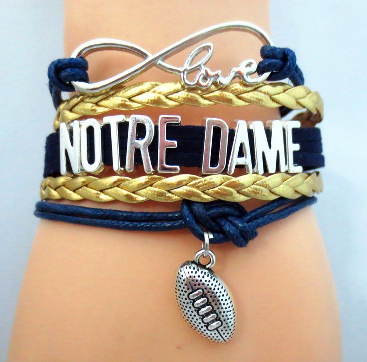 TODAY'S SPECIAL OFFER BUY 1 OR MORE, GET 1 FREE - $19.99! Limited time offer - Infinity Love Notre Dame Football Team Bracelet on Sale. Buy one or more bracelets and we will give you one extra bracele