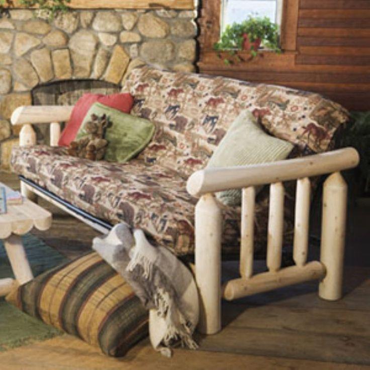 Rustic Natural Cedar Furniture Old Country Futon Frame - 48E