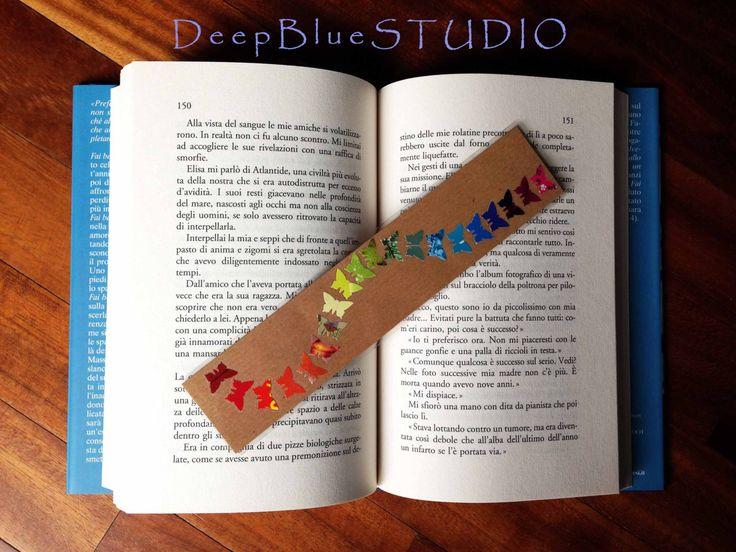 Segnalibro arcobaleno su carta da pacco di DeepBlueStudio su Etsy https://www.etsy.com/it/listing/500047839/segnalibro-arcobaleno-su-carta-da-pacco